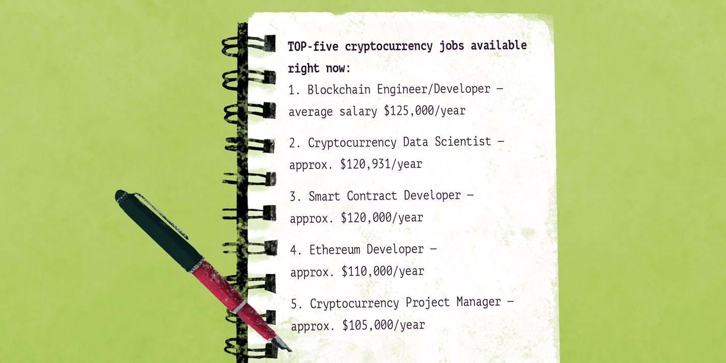 Top 5 crypto jobs: why not to change your career direction?