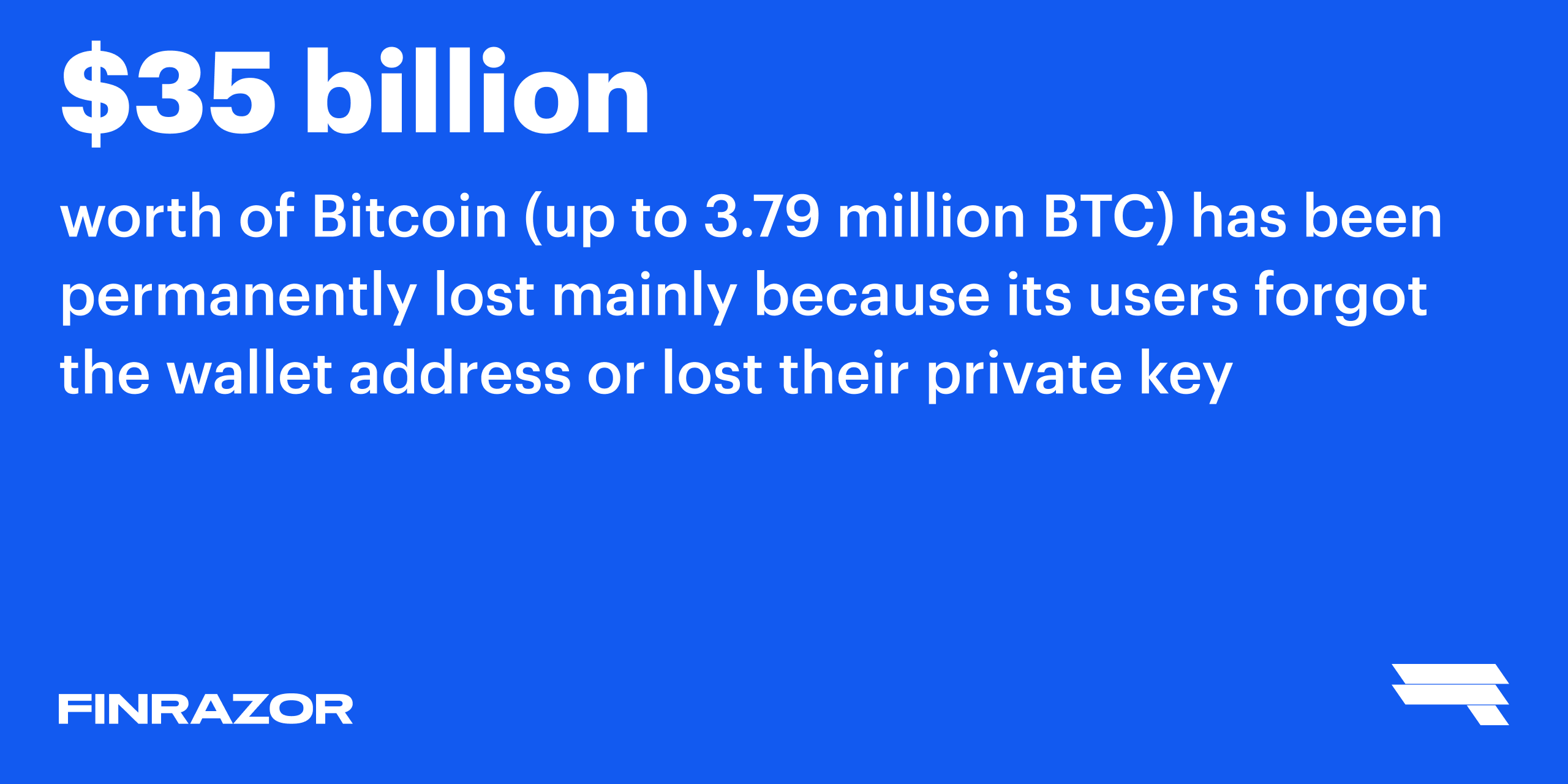 How many BTC are lost forever?