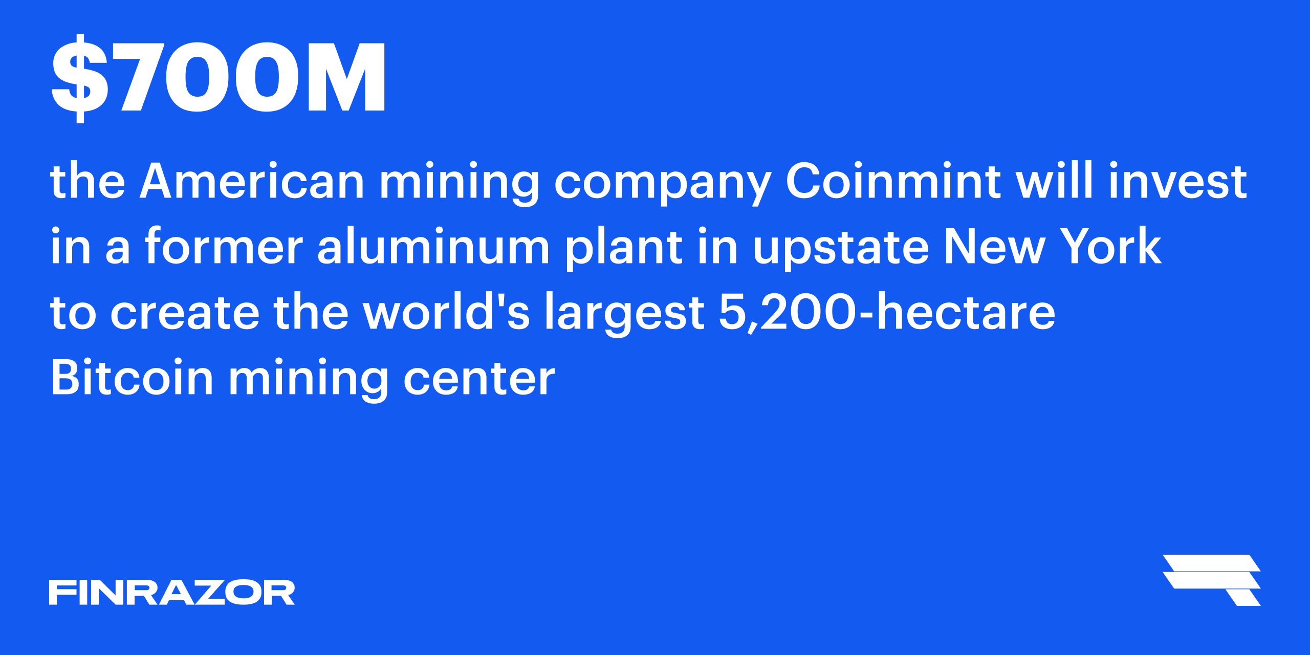 New York will become the mining capital of the world