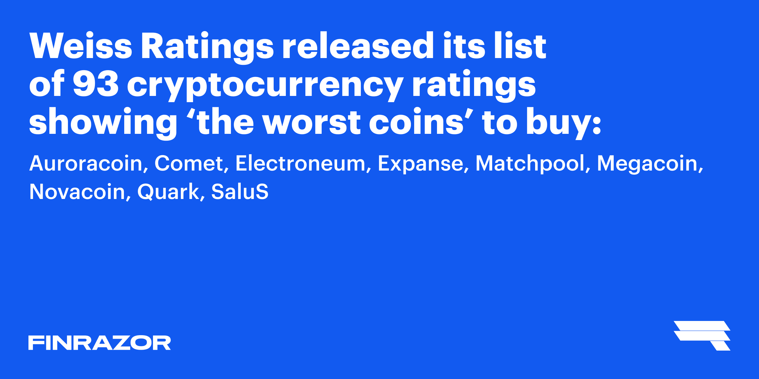 Which Crypto Is Considered the Worst to Buy?