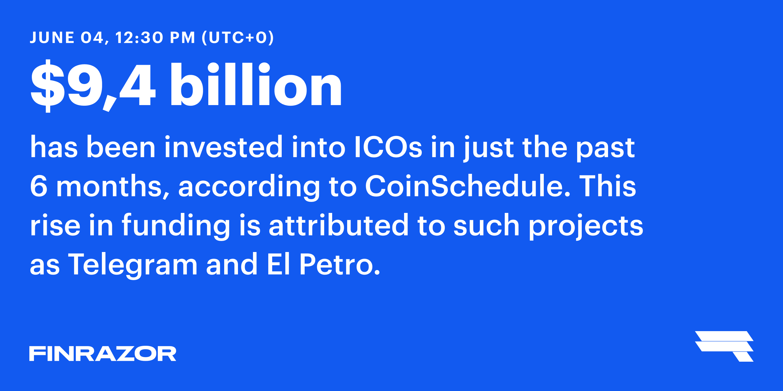 ICOs investment on the rise