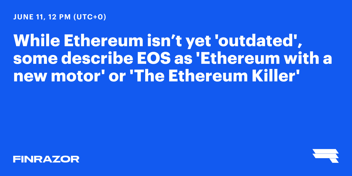 Can EOS put ETH out of business?